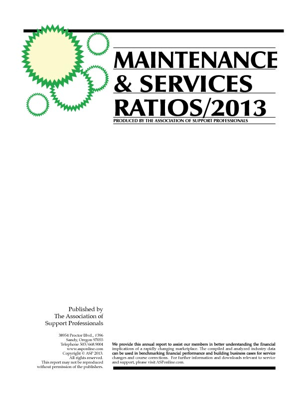 ASP's 2013 Ratios