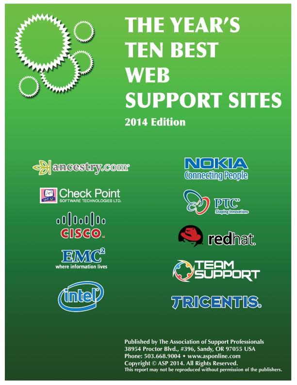 ASP's 2013 Top Ten Best Web Support Sites
