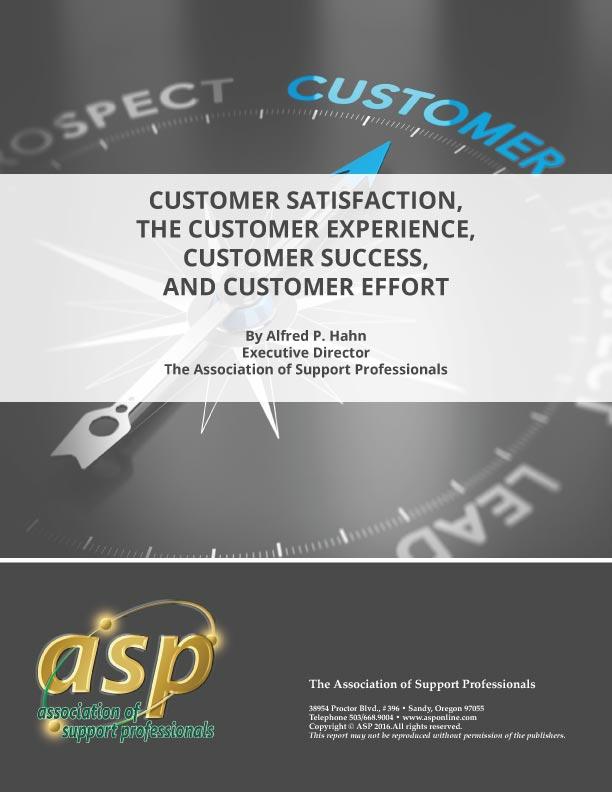ASP's 2016 Customer Report