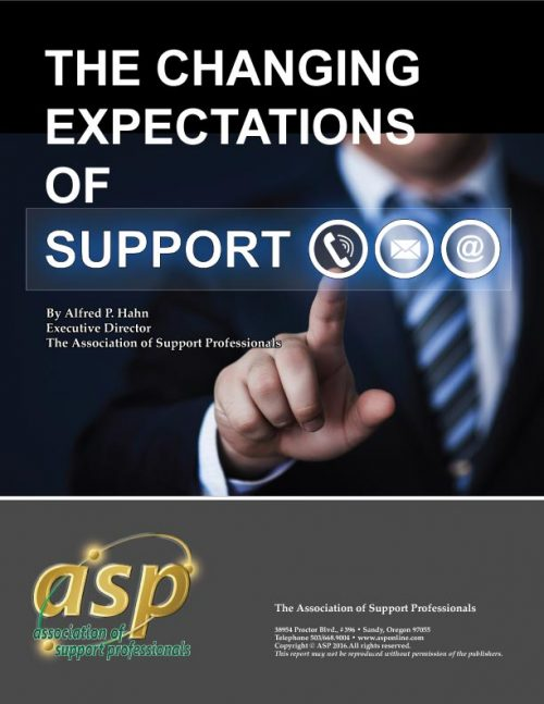 ASP's - 2017 Changing Expectations of Support