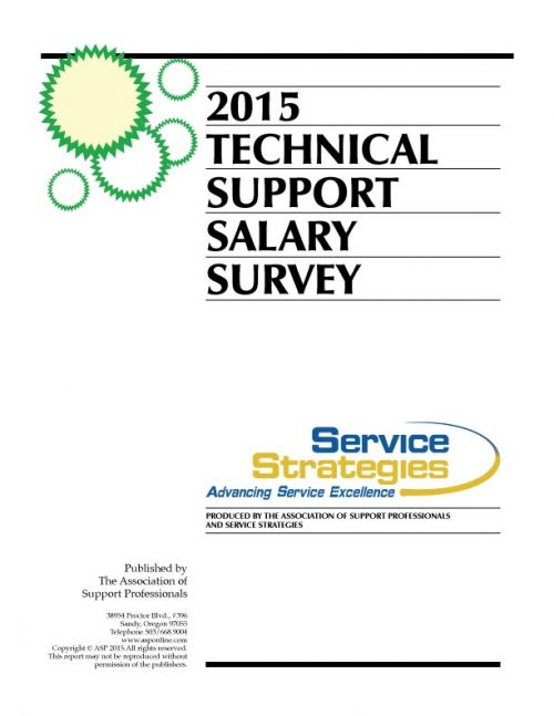 ASP's 2105 Tech Support Salary Survey