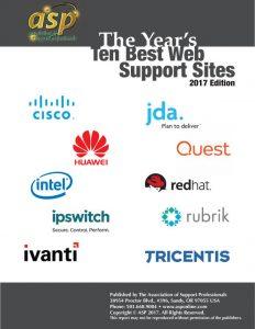 ASP's 2017 Top Ten Best Web Support Sites